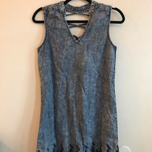 Michael Stars chambray embroidered dress